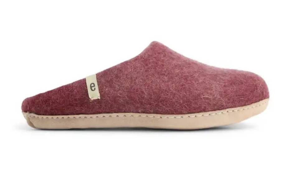 Ego Ethically made felt slippers - bordeaux