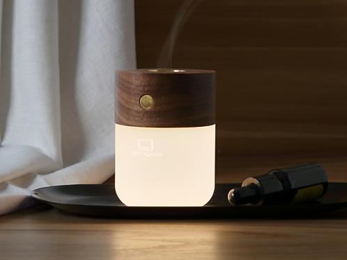 Gingko Smart diffuser lamp in walnut