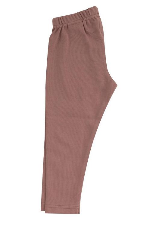 Pink rose plain leggings Pigeon organics