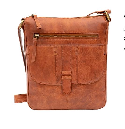 Primehide Arizona Crossbody leather handbag - Brandy