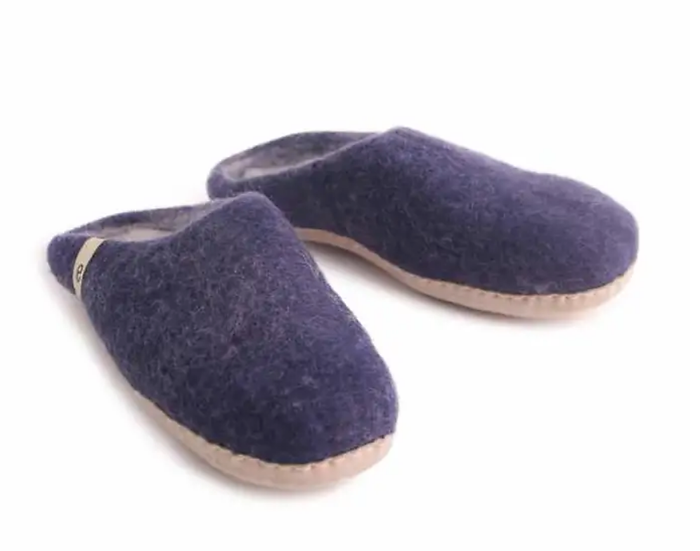 Ego Ethically made felt slippers - blue