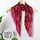 Thumbnail: Pink mix floral vine square silk scarf