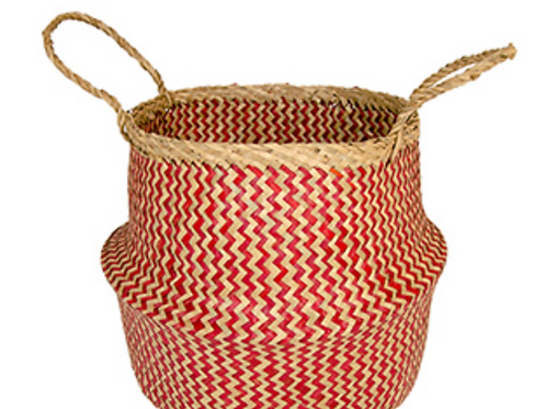 Large seagrass basket - red