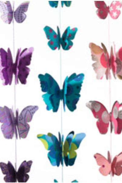 Butterfly 3d decoration recycled paper