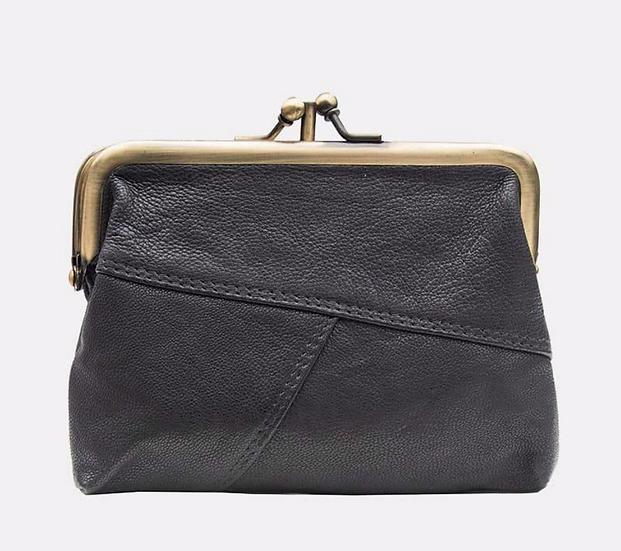 Primehide Crumble purse - black