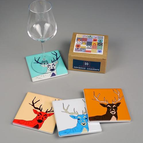 Dibujo Design Stag coaster set