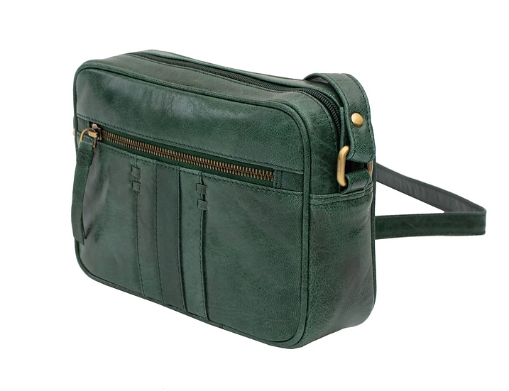 Primehide Arizona small leather shoulder bag - Green