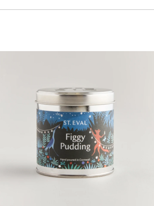 St Eval figgy pudding tinned candle