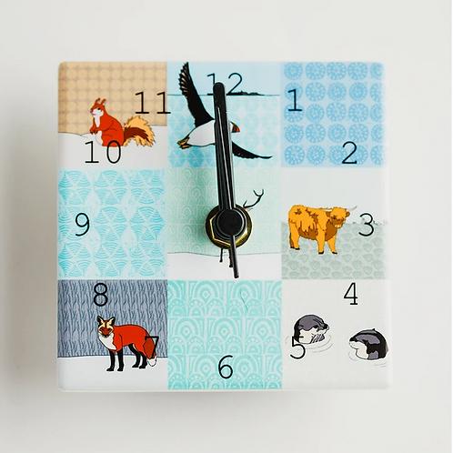 Dibujo Scottish animals mini clock