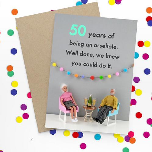 Bold & Bright - happy 50th Birthday