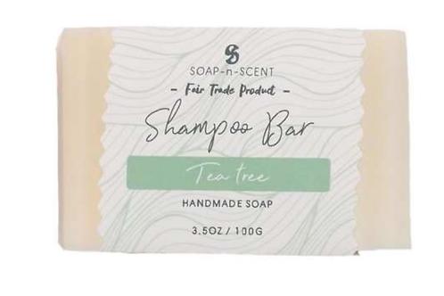 Fair trade Tea Tree solid  shampoo bar