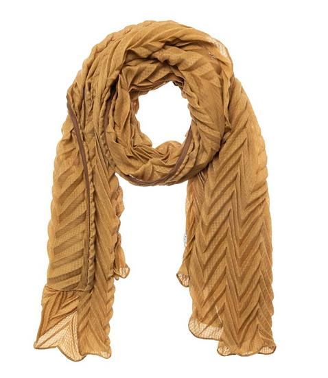 Yaya pleated mustard scarf