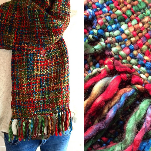 Cool Trade Winds ethically made scarf - Christmas Mix