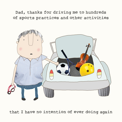 Rosie made a thing - driving dad