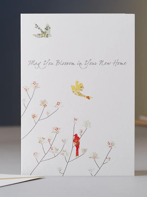 Eloise Hall may you blossom in your new home card