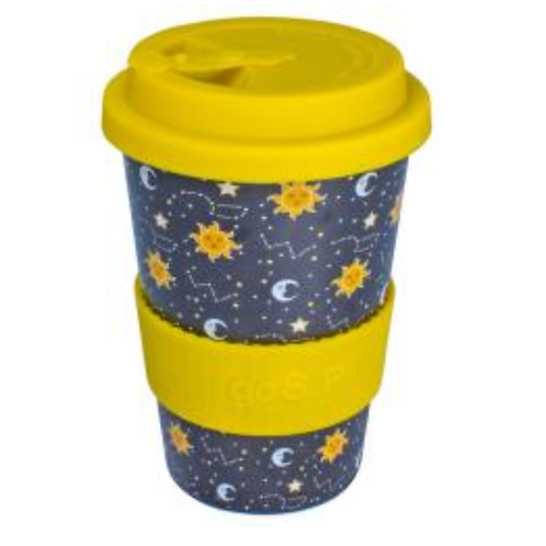 Rice husk sun, moon, stars cup