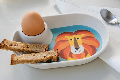 Lion egg plate