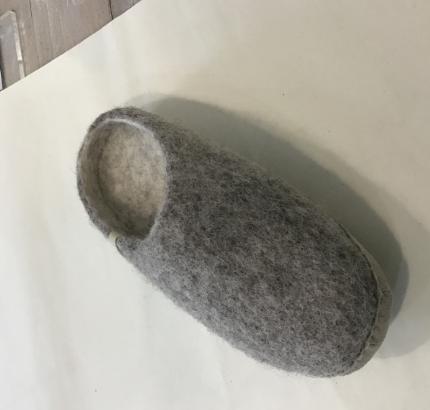 Ego Ethically made felt slippers -grey