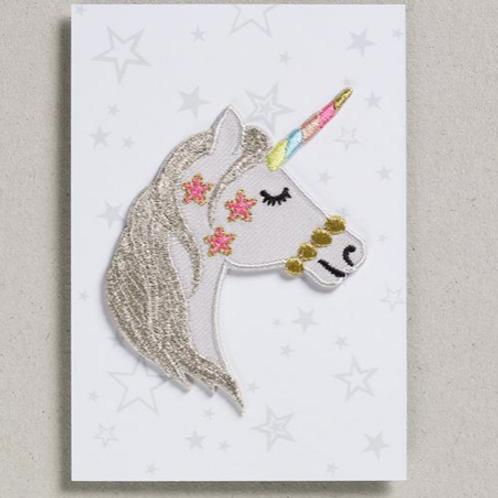 Petra Boase iron on patch - unicorn