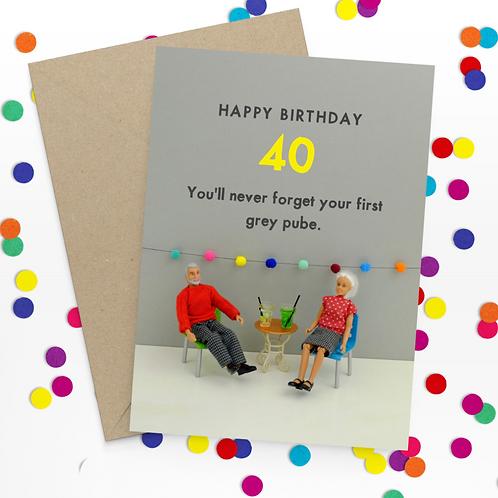 Bold & Bright Happy Birthday 40 pube