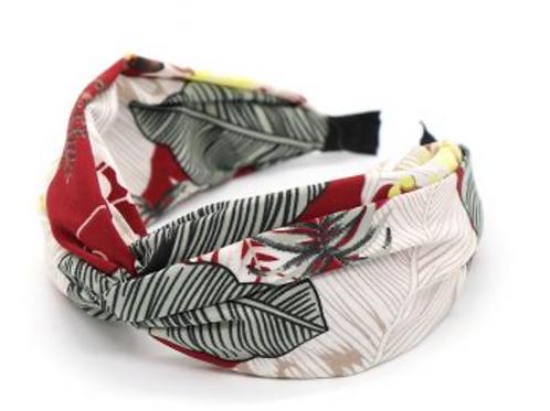Deep red botanical hairband