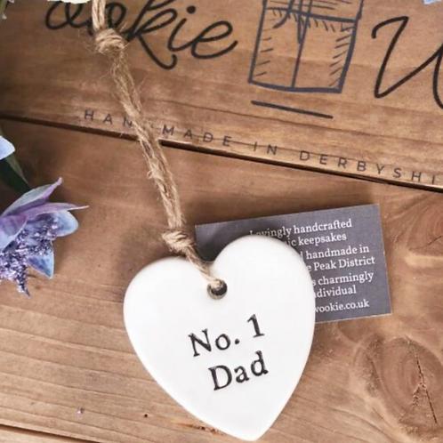 Ceramic hanging decoration - no. 1 dad
