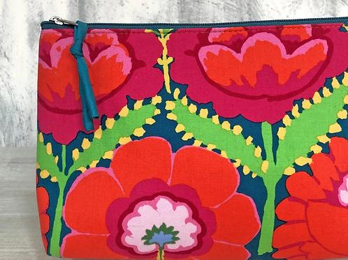 Aura Que Daya Large make up bag - Kaffe Fassett design