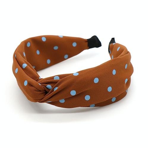 Ginger polka dot hairband