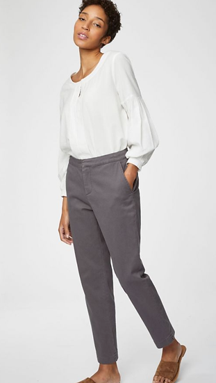 Thought Sheng trousers in mushroom grey