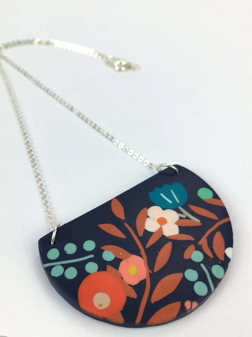 Nadege Honey - Flora Half Moon pendant necklace