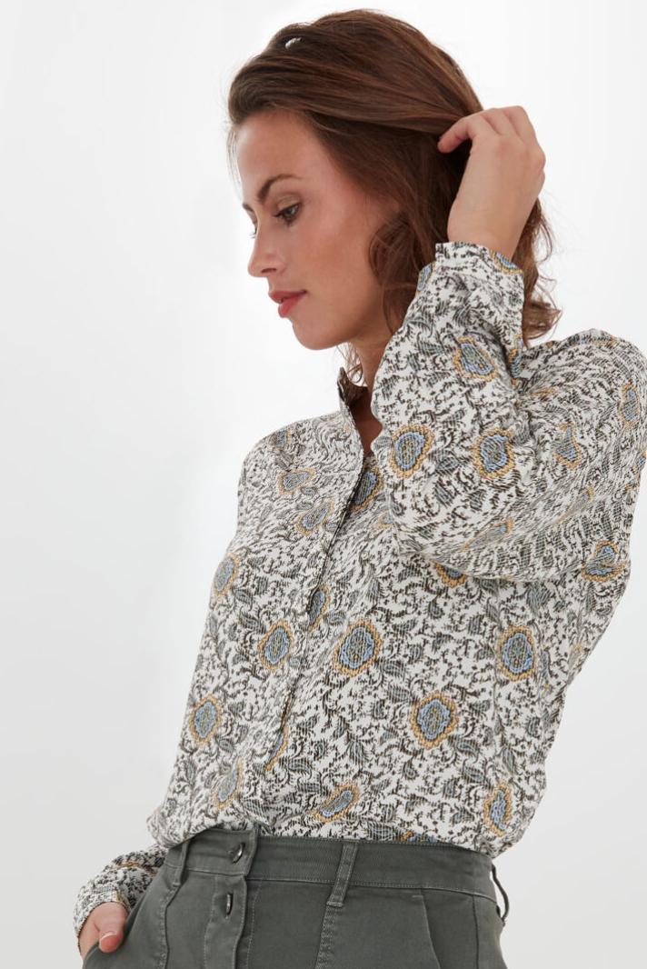Fransa smock blouse in flower mix