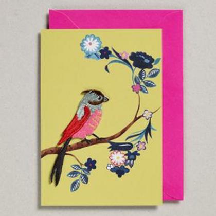 Petra Boase embroidered bird card
