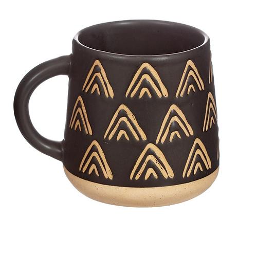 Sass and Belle black triangle mug