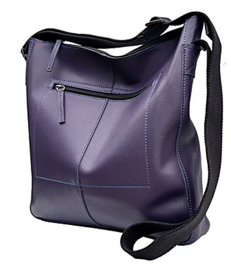 Shona Easton Large Shoulder bag - blackberry