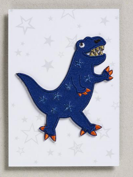 Petra Boase iron on patch - dinosaur