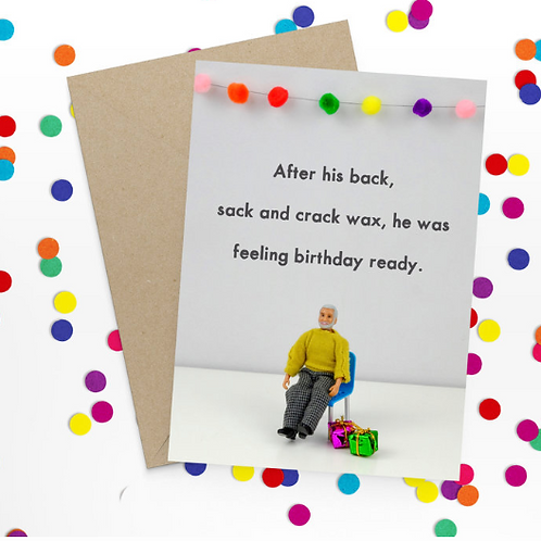 Bold & Bright - Back, crack and sack Birthday