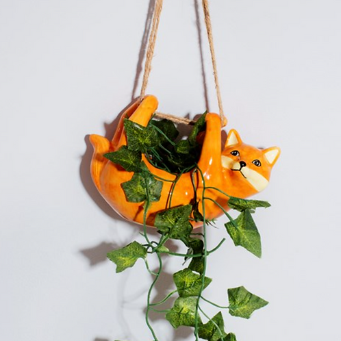 Sass & Belle fox hanging planter