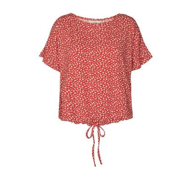 Numph Nucarita blouse in red clay