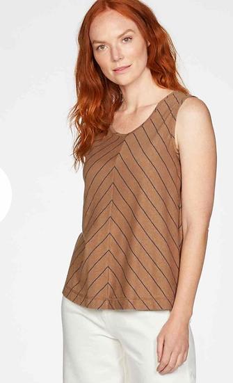 Thought Cecilia Vest top in Cinnamon brown