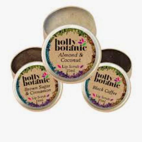 Holly Botanics lip balms and scrubs