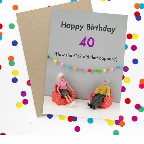 Bold & Bright - Happy 40th birthday