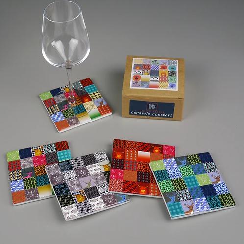 Dibujo Design Patchwork Coaster set