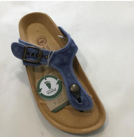 Natural World sandals - blue