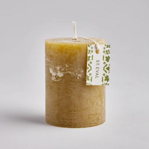 St Eval Moss pillar candle