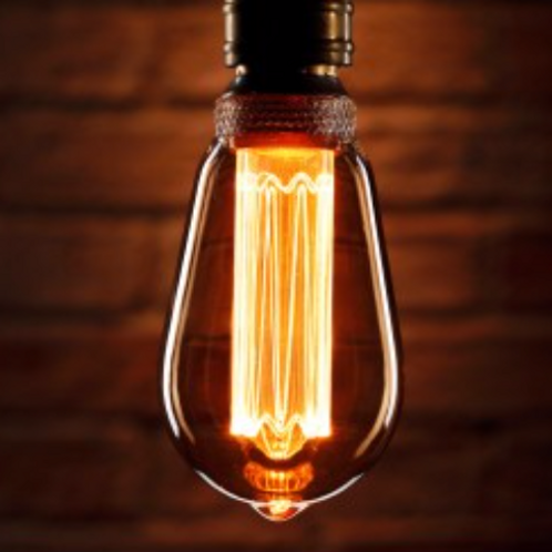 Retro pear shaped light bulb
