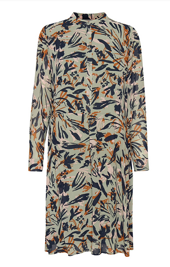 Fransa Vagette dress in lily pad mix