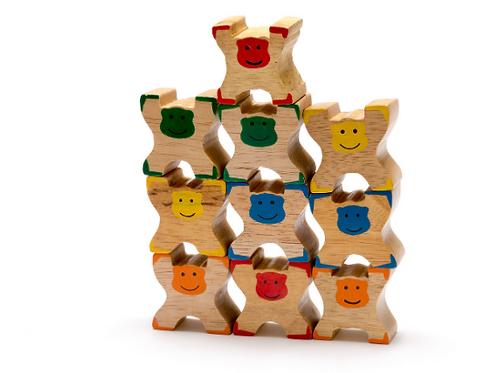 Wooden Monkey Stacker toy