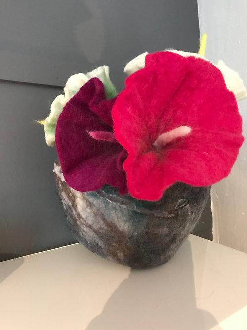 Pachamama Felt lily flower