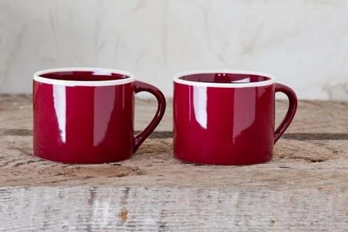 Nkuku Datia berry small mugs - set of 2