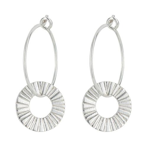 One & Eight Silver hoop earrings